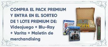 Por la compra del Pack Premium entra en el sorteo de un lote Premium de Merchandising, la película en Blu-Ray y el videojuego