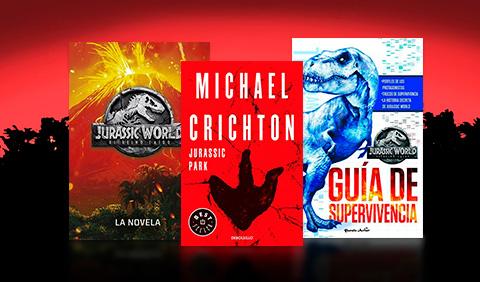 Libros Jurassic Park y Jurassic World