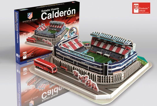 Vicente calder n puzzle 3d del estadio del atl tico de madrid sinopsis y precio fnac - La casa del puzzle madrid ...