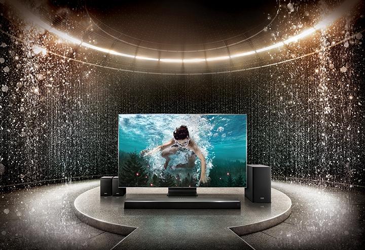 Barras de sonido Samsung y Harman Kardon con True Dolby Atmos