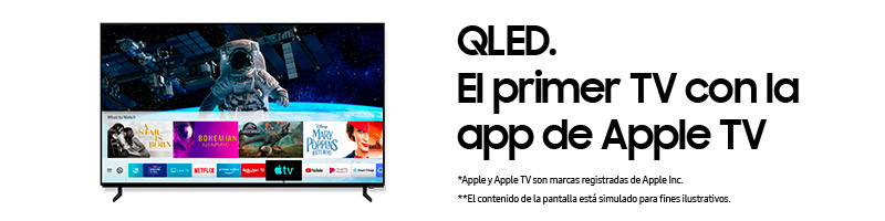 QLED. El primer TV con la app de Apple TV