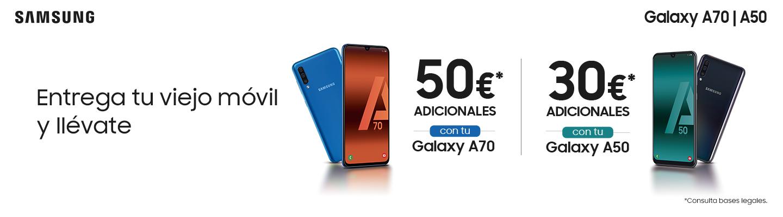Promoción TradeIn Galaxy A70/A50